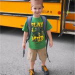 Connor's 1st day of school (wearing moose antlers);  www.makeoversandmotherhood.com