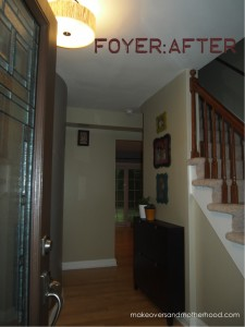 Foyer -- After; makeoversandmotherhood.com