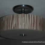 Foyer light; makeoversandmotherhood.com