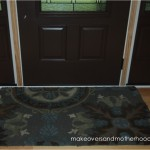 Foyer rug; makeoversandmotherhood.com