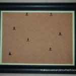 DIY Framed Corkboard;  www.makeoversandmotherhood.com