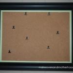 DIY Framed Corkboard;  msalishacarlson.com/