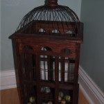 Main level bathroom bird cage; www.makeoversandmotherhood.com