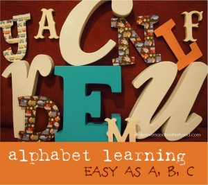 Alphabet Learning; www.makeoversandmotherhood.com