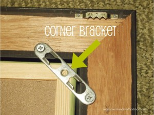 Corner bracket;  www.makeoversandmotherhood.com