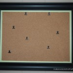 diy framed bulletin board art display