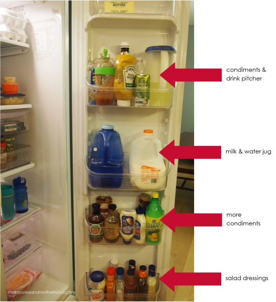 Refrigerator --door;  www.makeoversandmotherhood.com