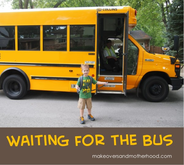 Waiting for the Bus;  www.makeoversandmotherhood.com