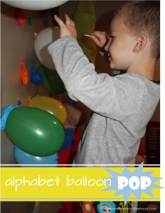 Alphabet Balloon Pop; www.makeoversandmotherhood.com