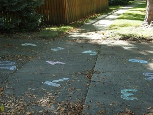 Number Nature Scavenger Hunt numbers;  www.makeoversandmotherhood.com
