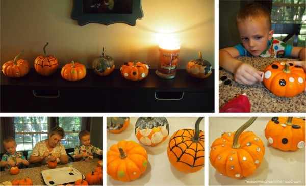 Pumpkin painting; www.makeoversandmotherhood.com