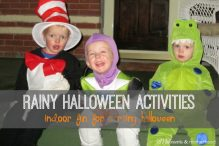 Rainy Halloween Activities