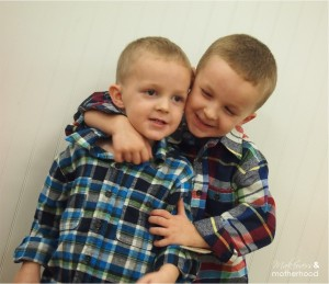 Boys in OshKosh clothes;  www.makeoversandmotherhood.com