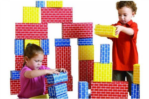 Cardboard blocks; www.makeoversandmotherhood.com