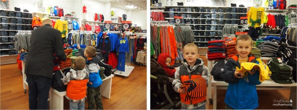 OshKosh B'gosh store;  www.makeoversandmotherhood.com