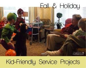 Fall & Holiday Kid-Friendly Service Projects; www.makeoversandmotherhood.com