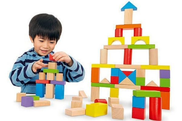 Imaginarium Wood Blocks & boy