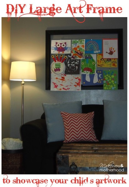 Save some money and do it yourself and after school link up diy large art frame makeoversandmotherhood solutioingenieria Images