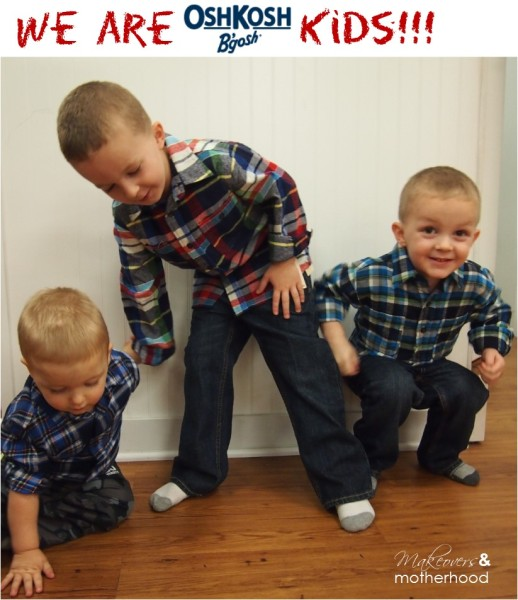 OshKosh B'gosh kids;  www.makeoversnandmotherhood.com