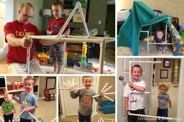 PVC Pipe Building Materials; www.makeoversandmotherhood.com