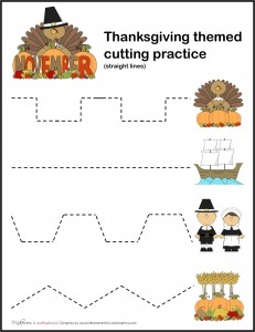 Thanksgiving cutting practice; www.makeoversandmotherhood.com