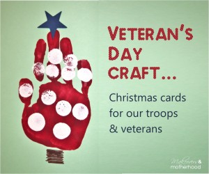 Veteran's Day Craft; www.makeoversandmotherhood.com