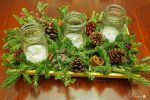 winter greenery centerpiece