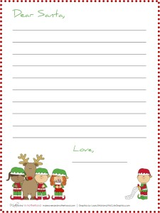 Dear Santa -- Elf stationary; www.makeoversandmotherhood.com