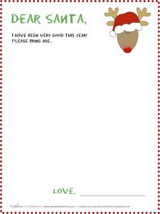 Dear Santa -- Reindeer (blank) stationary; www.makeoversandmotherhood.com