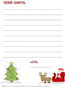 Dear Santa -- Santa & sleigh stationary; www.makeoversandmotherhood.com