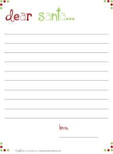 Dear Santa -- Basic lined stationary; www.makeoversandmotherhood.com