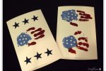 handprint flag cards for troops & veterans