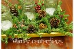 winter greenery centerpiece