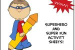 Superhero Activity Pack (printable)