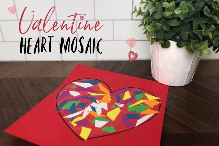Kid's heart mosaic artwork