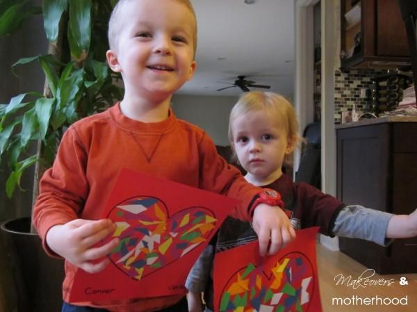 Valentine Heart Mosaic projects; www.makeoversandmotherhood.com