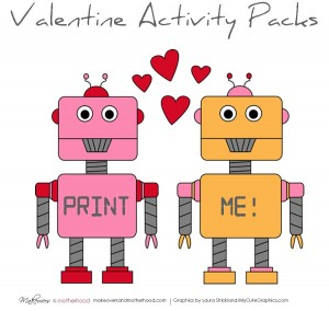 Valentine's Day Activity Pack; www.makeoversandmotherhood.com