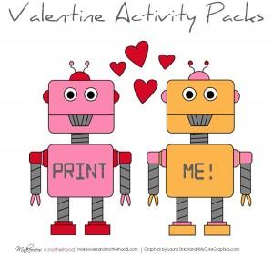 Valentine's Day Activity Pack; www.makeoversandmotherhood.com