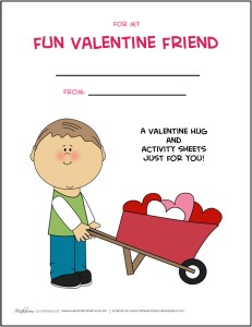 Valentine's Day Activity Pack -- BOY; www.makeoversandmotherhood.com