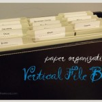 paper organization: vertical file box