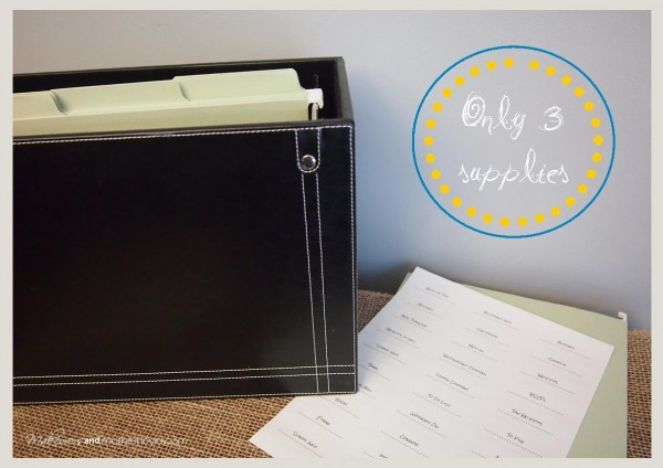 Vertical File Box supplies;  www.makeoversandmotherhood.com