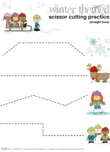 Winter Scissor Cutting Practice Sheets (printables) - Makeovers ...