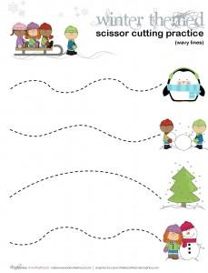 Winter cutting practice -- wavy lines; www.makeoversandmotherhood.com