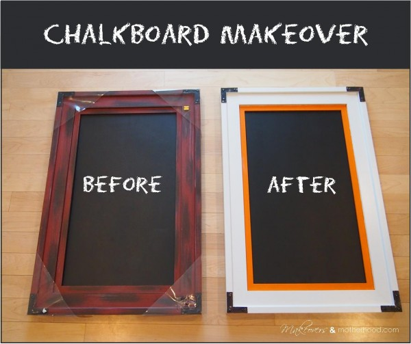 Chalkboard Makeover -- Before & After pic;  www.makeoversandmotherhood.com