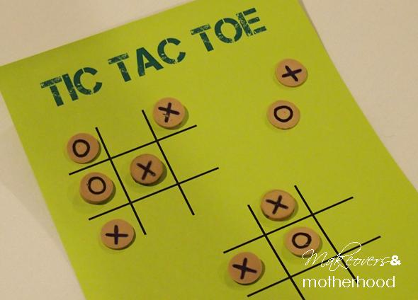Cork tic tac toe;  www.makeoversandmotherhood.com