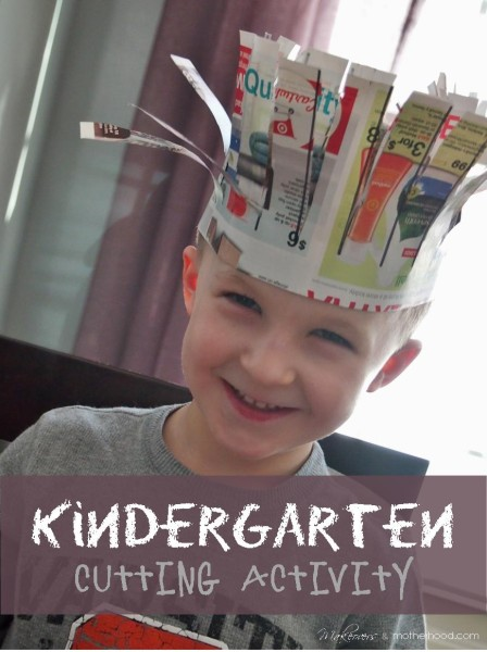 Kindergarten Cutting Activity; www.makeoversandmotherhood.com