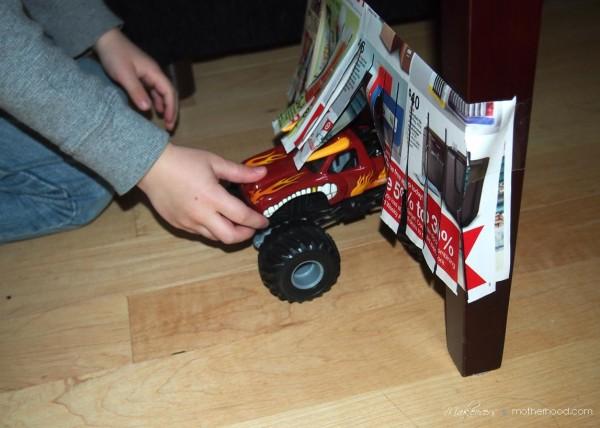 Kindergarten Cutting Activity -- carwash; www.makeoversandmotherhood.com