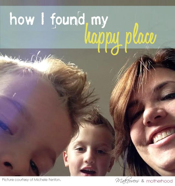 Michele Fenton & her twins -- How I found my happy place;  www.makeoversandmotherhood.com