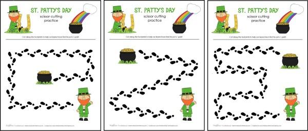 St Patty's Day cutting practice sheets; msalishacarlson.com/