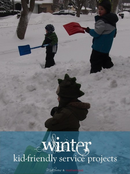 Winter Kid-Friendly Service Projects;  www.makeoversandmotherhood.com